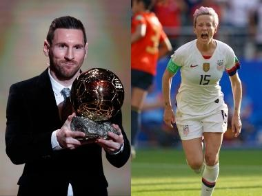 Ballon d'Or 2019: Barcelona's Lionel Messi wins award for record sixth time, Megan Rapinoe bags her first