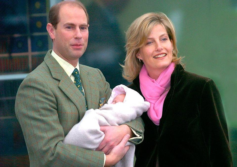 <p>Lady Louise Windsor is born to the Earl and Countess of Wessex on November 8.</p>