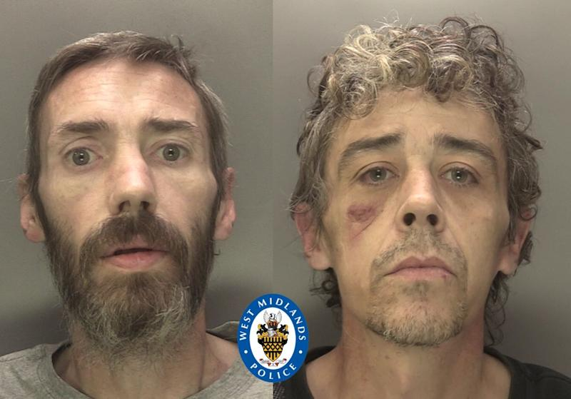 Christopher Talbot (L) and Justin Irvine fought in the dock (Picture: Police)