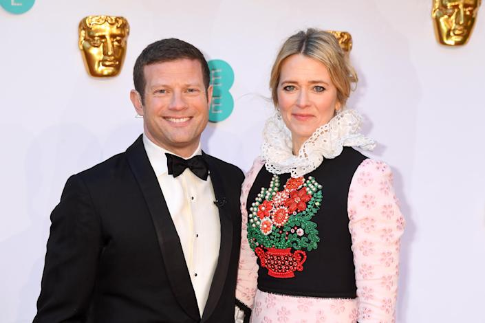 LONDON, ENGLAND - FEBRUARY 10: Dermot O'Leary and Edith Bowman attend the EE British Academy Film Awards at Royal Albert Hall on February 10, 2019 in London, England. (Photo by Dave J Hogan/Dave J Hogan/Getty Images)