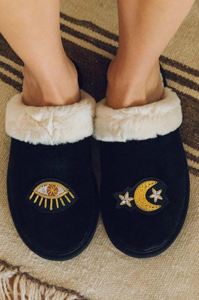 soludos slippers, faux fur slippers, lea michele slippers