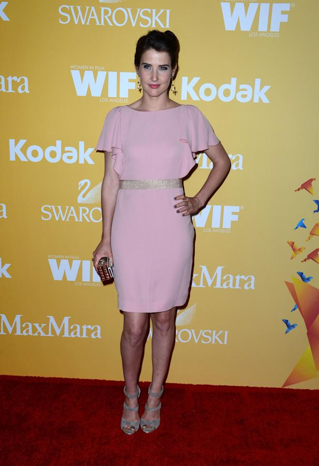 Actress Cobie Smulders arrives at the 2012 Women In Film Crystal + Lucy Awards at The Beverly Hilton Hotel on June 12, 2012 in Beverly Hills, California.  (Photo by Frazer Harrison/Getty Images)