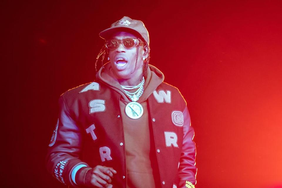 Travis Scott performs at the 2019 edition of his Astroworld Festival. (Photo: Suzanne Cordeiro/AFP via Getty Images)