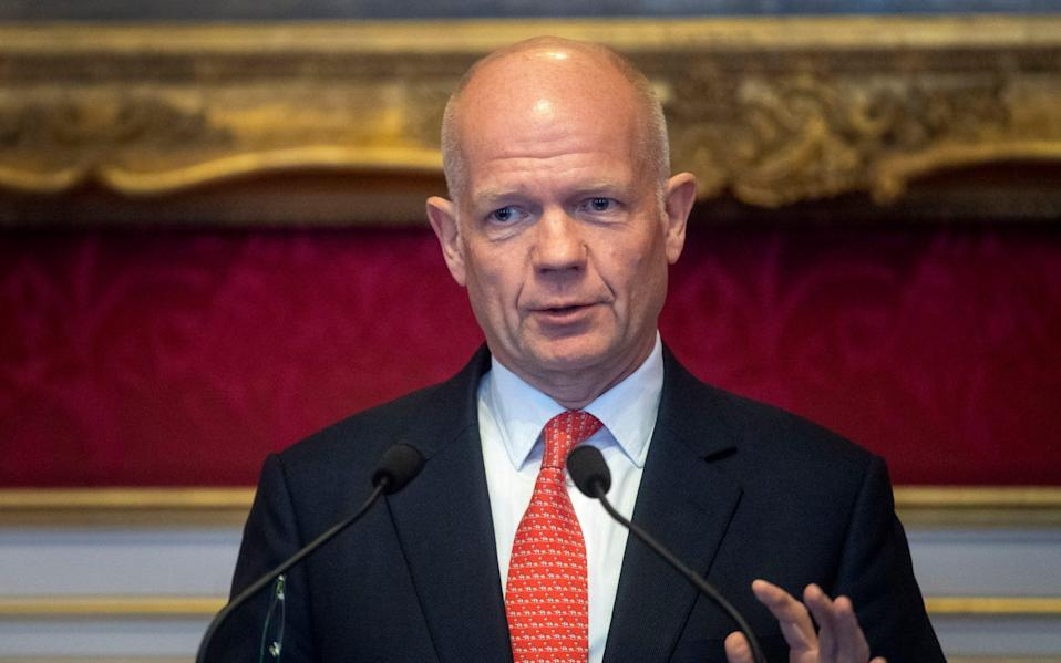 """Lord Hague of Richmond said Boris Johnson's former chief adviser and spin doctor, who left Downing Street last year, were """"brilliant people"""" but that """"maybe running governments wasn't their greatest skill"""" - PA/Victoria Jones"""