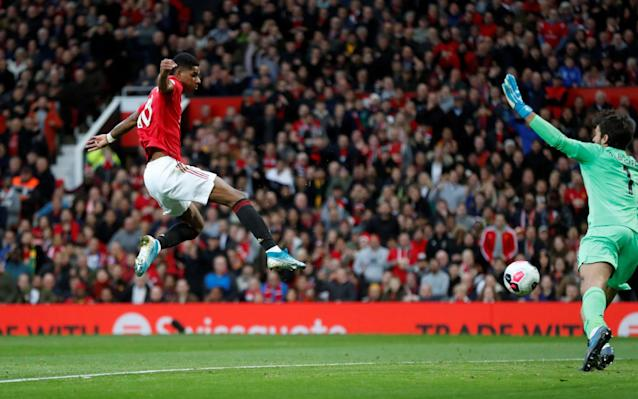 Marcus Rashford gives Manchester United the lead - REUTERS