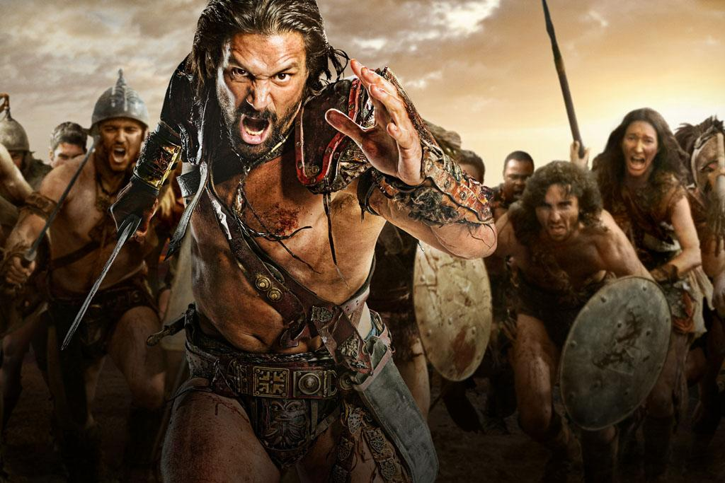 "Manu Bennett as Crixus in ""Spartacus: War of the Damned"" on Starz."
