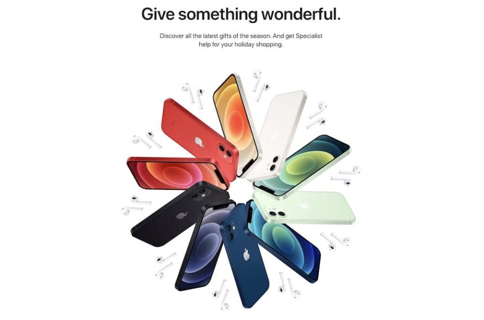 Stuck on a Christmas gift? Apple Specialists will be on hand to help you shop. — Scren capture via Apple store