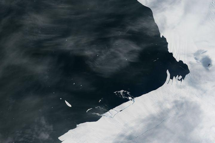 "<img alt=""""/><p>An iceberg the size of Manhattan has cleaved off of Antarctica's rapidly melting Pine Island Glacier on the southwest coast of the continent. NASA released the new data showing the iceberg's birth on Feb. 15, though the imagery was acquired between Jan. 26 and Jan. 31. </p> <p>The agency says ""about a kilometer or two of ice"" broke off the glacier's floating ice shelf during this period, making it a large iceberg but comparitively small in the recent history of this particular area. </p> <div><p>SEE ALSO: <a rel=""nofollow"" href=""http://mashable.com/2017/02/07/got-star-google-street-view-greenland/?utm_campaign=Mash-BD-Synd-Yahoo-Science-Full&utm_cid=Mash-BD-Synd-Yahoo-Science-Full"">This 'GOT' star teamed up with Google to capture Greenland's melting ice</a></p></div> <p>According to Ian Howat, a glaciologist at Ohio State University, the event was about 10 times smaller than the chunk of ice that broke off the same glacier in July 2015, when a 20-mile, or 30-kilometer, rift developed and calved an iceberg spanning 225 square miles.</p> <p>""I think this event is the calving equivalent of an 'aftershock' following the much bigger event,"" Howat said in a <a rel=""nofollow"" href=""https://www.nasa.gov/image-feature/glacial-aftershock-spawns-antarctic-iceberg"">press release</a>. </p> <p>""Apparently, there are weaknesses in the ice shelf — just inland of the rift that caused the 2015 calving — that are resulting in these smaller breaks.""</p> <div> <div> <div><h3></h3></div> <p><img title=""Pine Island Ice Shelf shown before the iceberg broke off on Jan. 24, 2017."" alt=""Pine Island Ice Shelf shown before the iceberg broke off on Jan. 24, 2017.""></p> <p>Pine Island Ice Shelf shown before the iceberg broke off on Jan. 24, 2017.</p><div><p>Image:  nasa</p></div>  </div> <div> <div><h3></h3></div> <p><img title=""Pine Island Ice Shelf shown just after the iceberg broke off on Jan. 31, 2017."" alt=""Pine Island Ice Shelf shown just after the iceberg broke off on Jan. 31, 2017.""></p> <p>Pine Island Ice Shelf shown just after the iceberg broke off on Jan. 31, 2017.</p><div><p>Image:  nasa</p></div>  </div> </div> <p>Despite its relatively small size, the new iceberg continues to point to the increasing instability of this glacier in particular, and is another warning sign regarding the fate of the much larger and more consequential West Antarctic Ice Sheet.</p> <p>The Pine Island Glacier ends in a floating ice shelf which buttresses the land-based ice behind it. The new iceberg broke off this floating section, which means it by itself will not add to sea level rise. </p> <div><div><blockquote> <p><a rel=""nofollow"" href=""https://twitter.com/NASAEarth"">@NASAEarth</a> next iceberg is coming! <a rel=""nofollow"" href=""https://t.co/DTxC7UTesD"">pic.twitter.com/DTxC7UTesD</a></p> <p>— Simon Gascoin (@sgascoin) <a rel=""nofollow"" href=""https://twitter.com/sgascoin/status/831885139458322432"">February 15, 2017</a></p> </blockquote></div></div> <p>Scientists are expecting more large icebergs to be born from this glacier, and are also anxiously watching the Larsen C Ice Shelf for what is likely to be one of the largest births of an iceberg on record during the next few months. </p> <p>According to NASA, rifts on the Pine Island Glacier are present about 6 miles from the ice front, including a large one that was spotted in a scientific flight on Nov. 4, 2016. Some of the rifts are hard to see since they are extending upward from the bottom of the ice shelf. </p> <p><img title=""The iceberg broke off and drifted into Pine Island Bay."" alt=""The iceberg broke off and drifted into Pine Island Bay.""></p> <p>The iceberg broke off and drifted into Pine Island Bay.</p><div><p>Image:  nasa</p></div><p>As Howat put it, the glacier's ice shelf is essentially breaking apart from the inside out.</p> <p>""Such 'rapid fire' calving does appear to be unusual for this glacier,"" Howat said. This phenomenon, which yields smaller glaciers, ""fits into the larger picture of basal crevasses in the center of the ice shelf being eroded by warm ocean water, causing the ice shelf to <a rel=""nofollow"" href=""http://dx.doi.org/10.1002/2016GL071360"">break from the inside out</a>,"" he said.</p> <p>What is happening to the Pine Island Glacier is not an isolated incident, either. Glaciers that end in floating ice shelves are melting at increasing rates in many other parts of Antarctica, Greenland, Canada and other areas. </p> <div><p>SEE ALSO: <a rel=""nofollow"" href=""http://mashable.com/2017/01/20/giant-iceberg-about-to-break-off-antarctica/?utm_campaign=Mash-BD-Synd-Yahoo-Science-Full&utm_cid=Mash-BD-Synd-Yahoo-Science-Full"">One of the largest icebergs ever seen is even closer to breaking off Antarctica</a></p></div> <p>Such melting from below due to an influx of relatively warm waters potentially dooms seemingly stable ice far inland, since it removes the plugs that had been preventing such glaciers from flowing faster into the sea.  </p> <p>Over time, ice shelves are retreating closer to their grounding line, which is where the ice begins to float. The grounding line at Pine Island has been retreating at one of the fastest rates of any glacier on Antarctica, which suggests a growing instability there.</p> <p>Scientists have warned that the West Antarctic Ice Sheet may have entered a period of irreversible (albeit long-term) collapse, which could cause sea levels to rise by more than a meter, or 3.4 feet, by 2100 and a far greater amount thereafter, according to a <a rel=""nofollow"" href=""http://mashable.com/2016/03/31/antarctic-ice-sheet-melt-sea-level/?utm_campaign=Mash-BD-Synd-Yahoo-Science-Full&utm_cid=Mash-BD-Synd-Yahoo-Science-Full"">March study</a> published in  the journal <em>Nature.</em> That study projected an astonishing 15 meters, or 50 feet of sea level rise by the year 2500, due to the collapse of the West Antarctic Ice Sheet. </p> <p>By the middle of the 22nd century, the rate of sea level rise could exceed a foot per decade. This could render coastal megacities worldwide, from New York to Dhaka, virtually unlivable. </p>"