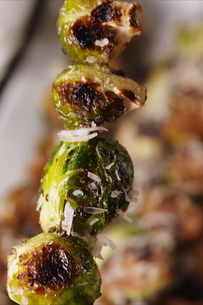 <p>If you thought Brussels sprouts couldn't get any better, wait until you throw them on the grill.</p><p>Get the recipe from <span>Delish</span>.</p>