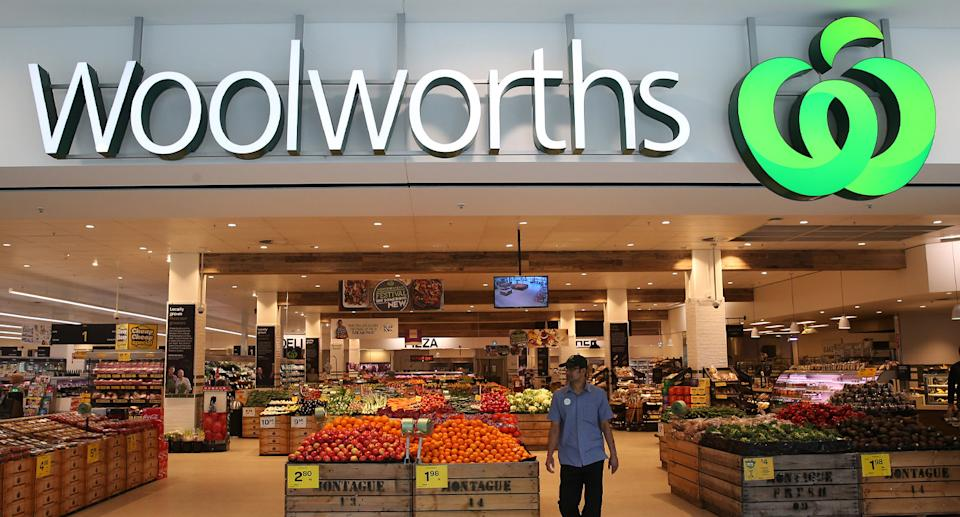 Entrance to a Woolworths store.