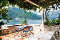 "<p>Over in Montenegro lies one of Europe's most popular Airbnbs. With Insta-worthy views of two Bay of Kotor islands, it comes as no surprise that the property has been wish listed 52,964 times. For just £36 per night, guests can enjoy its now-famous terrace with a glass of wine to hand. <strong><a href=""https://www.airbnb.co.uk/rooms/2791283"" rel=""nofollow noopener"" target=""_blank"" data-ylk=""slk:Book now"" class=""link rapid-noclick-resp"">Book now</a></strong>. <em>[Photo: Caters]</em> </p>"