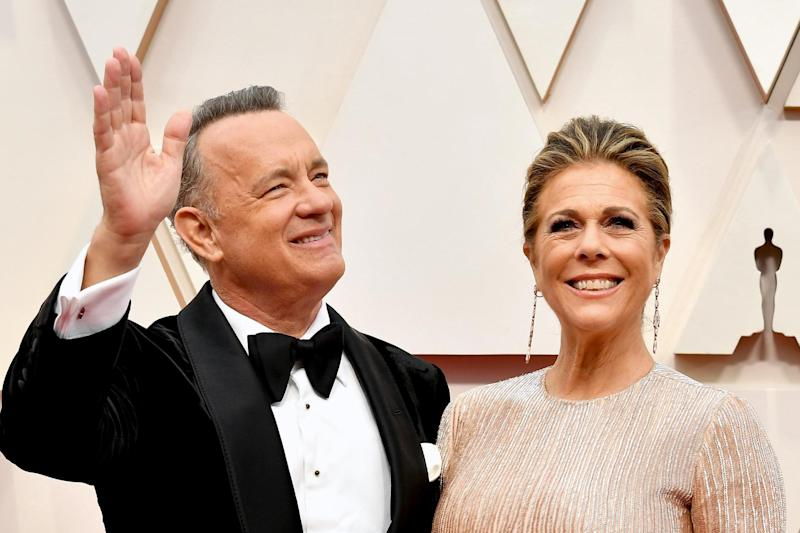 Hanks and Wilson, seen here at this year's Oscars, have both made full recoveries (Getty Images)