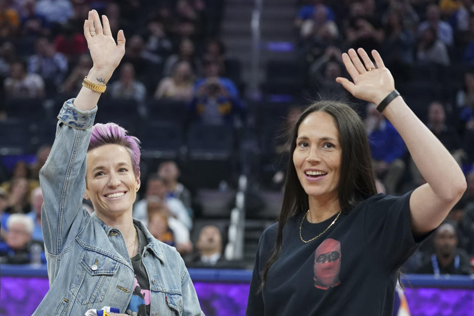 Megan Rapinoe and Sue Bird are active in community work and activism. (Kyle Terada-USA TODAY Sports)