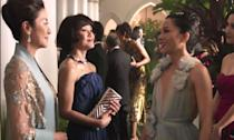 <p>This romantic comedy is based on the book of the same name and follows one New Yorker, Rachel Chu (Constance Wu), and her journey to Singapore to meet her boyfriend's rather wealthy family. </p>
