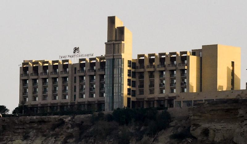 The Pearl Continental, part of Pakistan's largest five-star hotel chain, is the only luxury hotel in Gwadar, frequented by foreign and Pakistani business delegations as well as diplomats (AFP Photo/BANARAS KHAN)