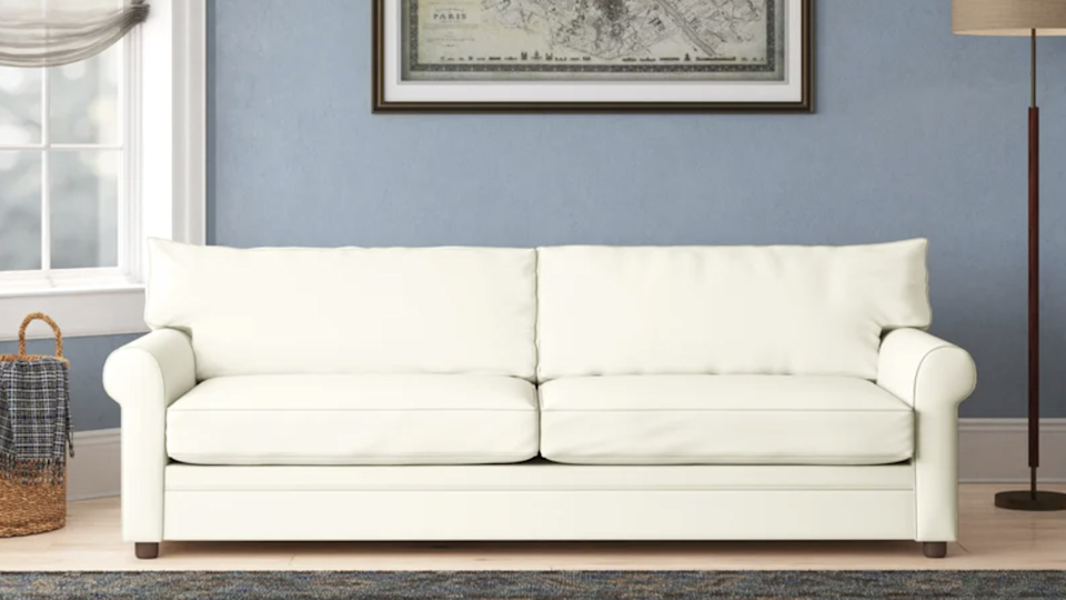 This simple sofa comes in more than 50 color options.