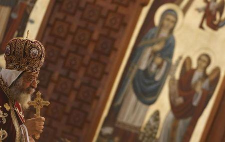 Pope Tawadros II leads Egypt's Coptic Christmas eve mass in Cairo