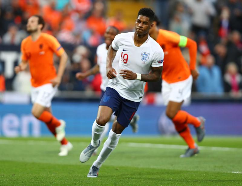 Rashford in action for EnglandGetty
