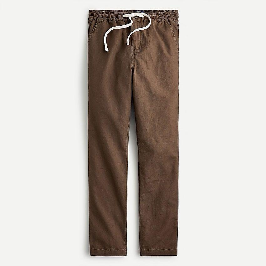 """<p><strong>J.Crew</strong></p><p>jcrew.com</p><p><strong>$89.50</strong></p><p><a href=""""https://go.redirectingat.com?id=74968X1596630&url=https%3A%2F%2Fwww.jcrew.com%2Fp%2FAY416&sref=https%3A%2F%2Fwww.esquire.com%2Fstyle%2Fmens-fashion%2Fg36561704%2Fbest-new-menswear-may-28-2021%2F"""" rel=""""nofollow noopener"""" target=""""_blank"""" data-ylk=""""slk:Shop Now"""" class=""""link rapid-noclick-resp"""">Shop Now</a></p><p>And would you look at that: the perfect pants to wear with it.</p>"""