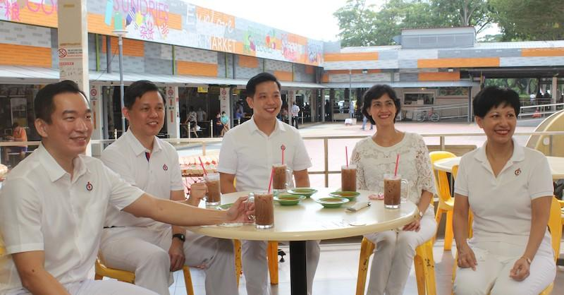 The People's Action Party candidates for Tanjong Pagar GRC (L-R): Eric Chua, Chan Chun Sing, Alvin Tan, Joan Pereira and Indranee Rajah. PHOTO: PAP