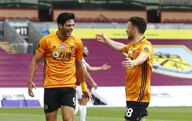 Jimenez (left) netted 27 times in all competitions last season (Jason Cairnduff/NMC Pool/ PA).