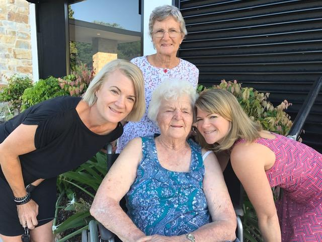 Mabel Crosby Australia's oldest woman with daughter, granddaughter and great-granddaughter