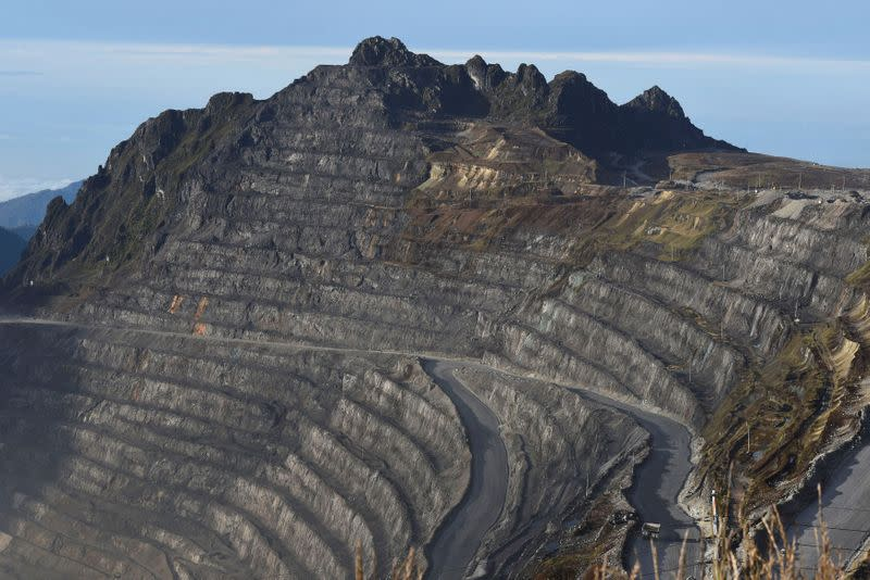 FILE PHOTO: Truck is seen on a road in the Grasberg copper and gold mine operated by an Indonesian subsidiary of Freeport-McMoRan Inc, near Timika, Papua province