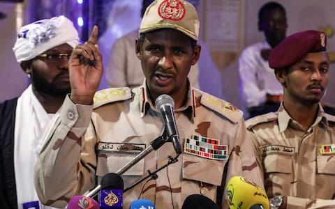 Many suspect the real power in country is Burhan's deputy, Lt Gen Mohammed Hamdan Dagalo, widely known as Hemeti, who commands the RSF - Credit: AP