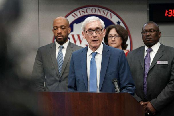 PHOTO: Gov. Tony Evers declares a public health emergency, March 12, 2020, in response to a growing number of cases of COVID-19, the respiratory disease caused by the new coronavirus, in Wisconsin. (Steve Apps/Wisconsin State Journal via AP)