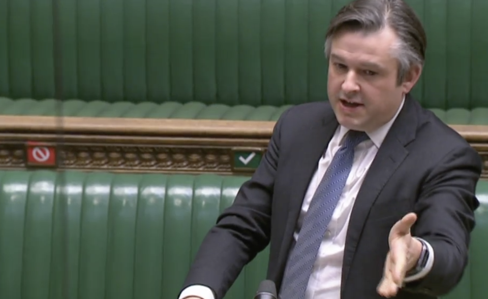 Jonathan Ashworth in the Commons on Wednesday. (Parliamentlive.tv)