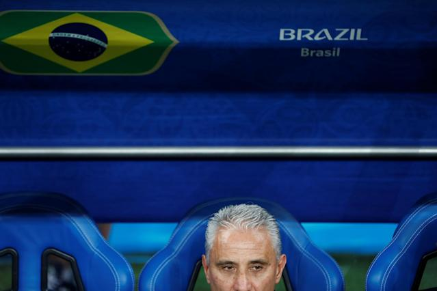 Soccer Football - World Cup - Group E - Brazil vs Switzerland - Rostov Arena, Rostov-on-Don, Russia - June 17, 2018 Brazil coach Tite before the match REUTERS/Damir Sagolj