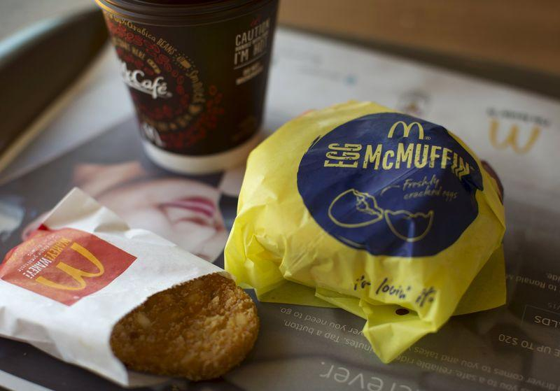 An Egg McMuffin meal is pictured at a McDonald's restaurant in Encinitas, California August 13, 2015. REUTERS/Mike Blake