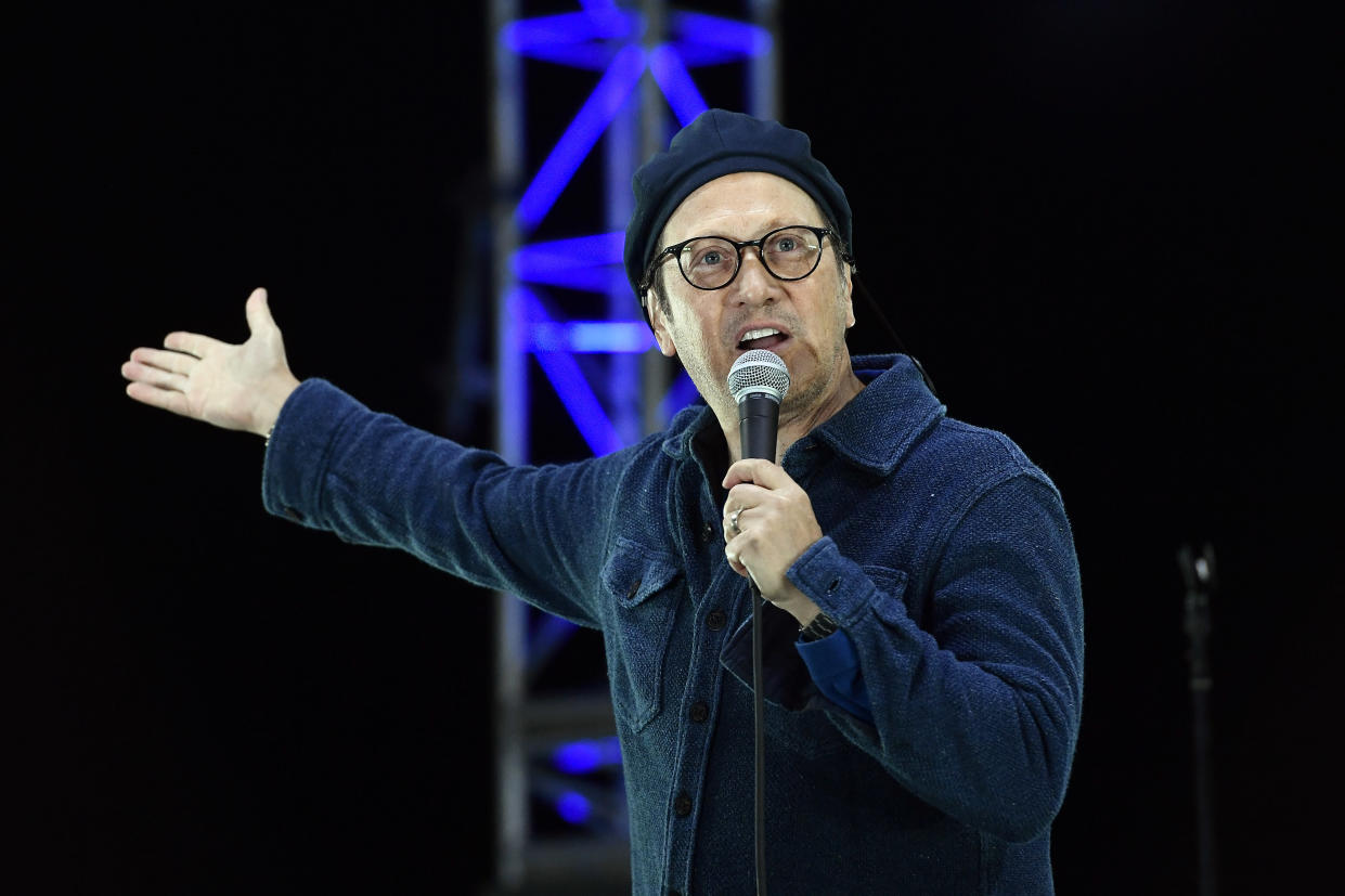 Comedian Rob Schneider tweeted a series of statements against receiving the COVID-19 vaccine on Twitter, sharing that the Second Amendment should be used to defend this right. (Photo: Frazer Harrison/Getty Images)