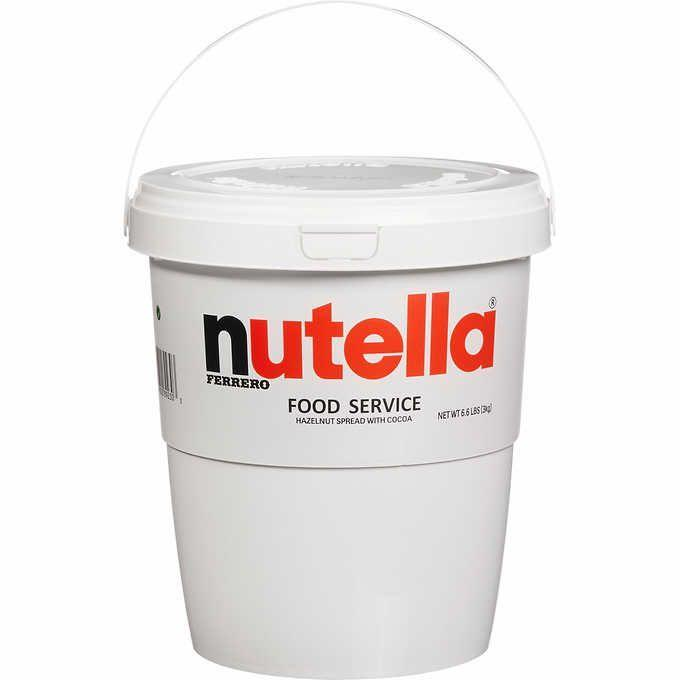 """<p><strong>Nutella</strong></p><p>costco.com</p><p><strong>$21.99</strong></p><p><a href=""""https://www.costco.com/.product.100401363.html"""" rel=""""nofollow noopener"""" target=""""_blank"""" data-ylk=""""slk:Shop Now"""" class=""""link rapid-noclick-resp"""">Shop Now</a></p><p>We now believe that dreams come true because this is all we've ever wanted. All the Nutella, all the time. Honestly? Don't feel like you have to share this, because YOU DON'T. Check out more details on this <a href=""""https://www.bestproducts.com/lifestyle/a25737923/costco-7-pound-tub-of-nutella/"""" rel=""""nofollow noopener"""" target=""""_blank"""" data-ylk=""""slk:almost-7-pound Nutella spread"""" class=""""link rapid-noclick-resp"""">almost-7-pound Nutella spread</a> here!</p>"""