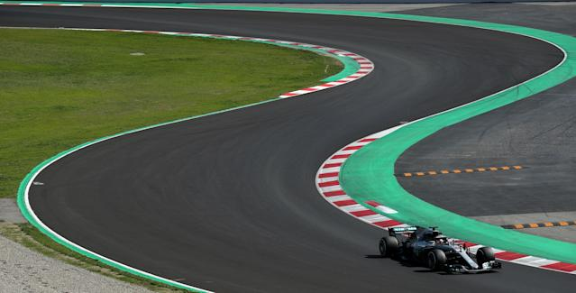 Motor Racing - F1 Formula One - Formula One Test Session - Circuit de Barcelona -Catalunya, Montmelo, Spain - March 9, 2018 - Lewis Hamilton of Mercedes during testing. Picture taken March 9, 2018. REUTERS/Albert Gea