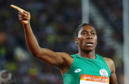 FILE PHOTO: Athletics - Gold Coast 2018 Commonwealth Games - Women's 800m - Final - Carrara Stadium - Gold Coast, Australia - April 13, 2018. Caster Semenya of South Africa. REUTERS/Athit Perawongmetha/File Photo