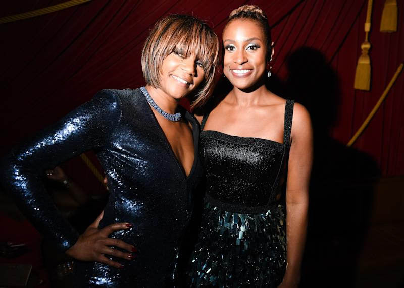 Tiffany Haddish and Issa Rae attend Rihanna's Diamond Ball Afterparty at PUBLIC Arts.