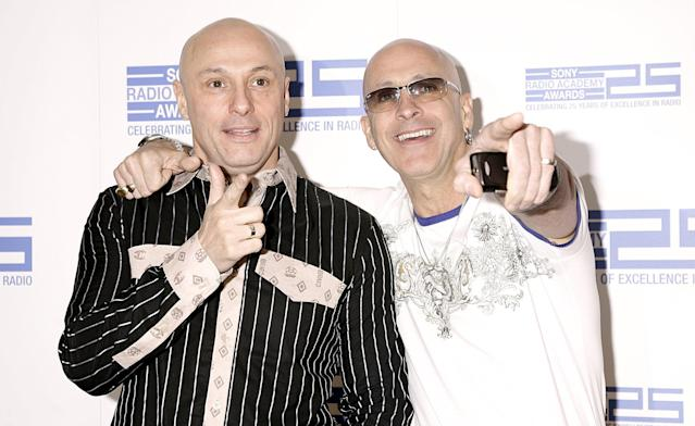 Richard and Fred Fairbrass of Right Said Fred arrive for the Sony Radio Academy Awards 2007 (Yui Mok/PA Wire)