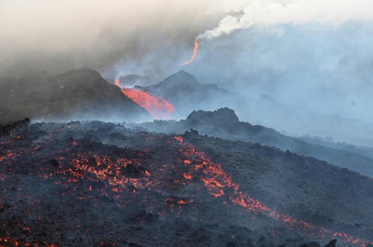 Rivers of lava have been streaming down the Pacaya volcano since it began erupting in February 2021
