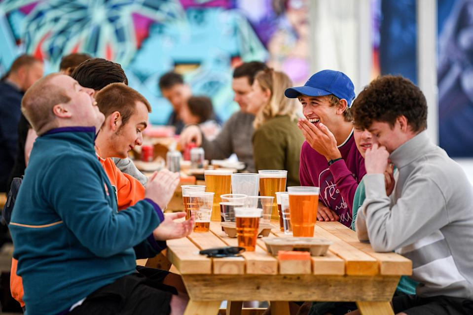 <p>Sweet relief: pub gardens are set to reopen on April 12</p> (Getty Images)
