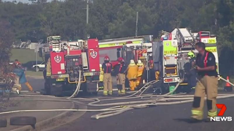 Firefighters battled a blaze at a retirement village in Melbourne's southeast. Source: 7 News