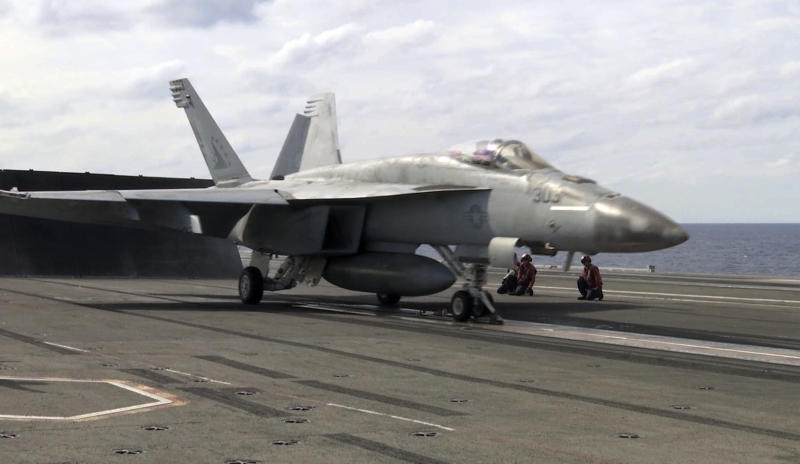 Navy warplane down in 2nd crash from U.S. carrier in month