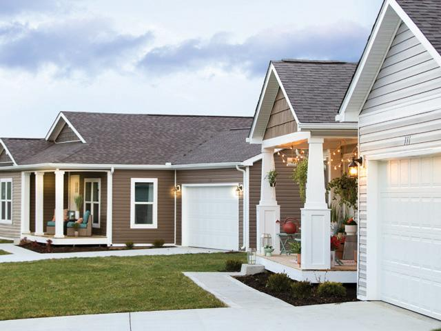 MH Advantage® homes will fit seamlessly into existing or new neighborhoods. The homes come with features like lower profile foundations, higher pitch rooflines, garages, porches and dormers.