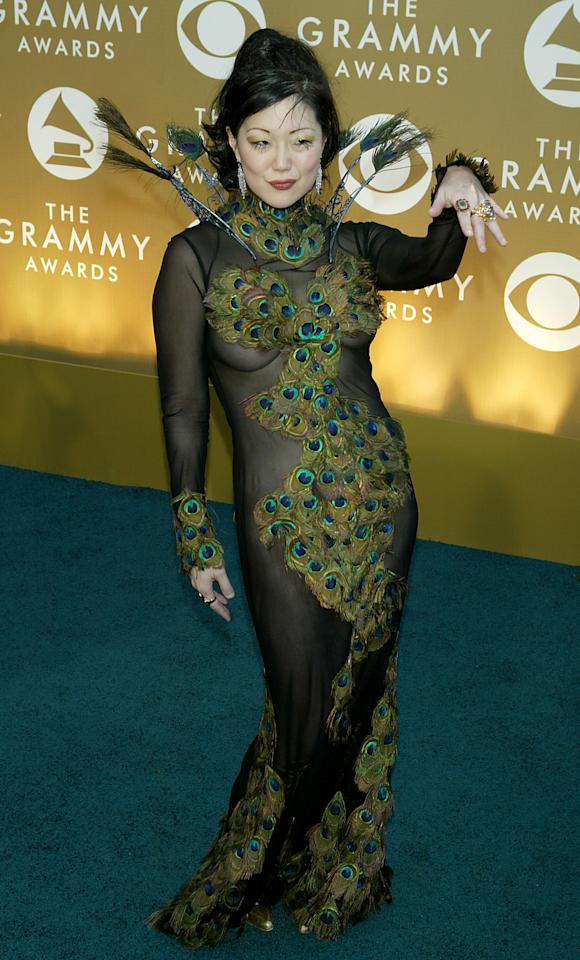 LOS ANGELES - FEBRUARY 8:  Comedian Margaret Cho arrives at the 46th Annual Grammy Awards held at the Staples Center on February 8, 2004 in Los Angeles, California.  (Photo by  Kevin Winter/Getty Images)