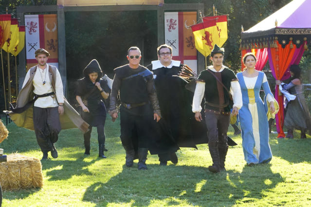 Eddie Kaye Thomas, Jadyn Wong, Robert Patrick, Ari Stidham, Gabel, and McPhee (Photo: Bill Inoshita/CBS)