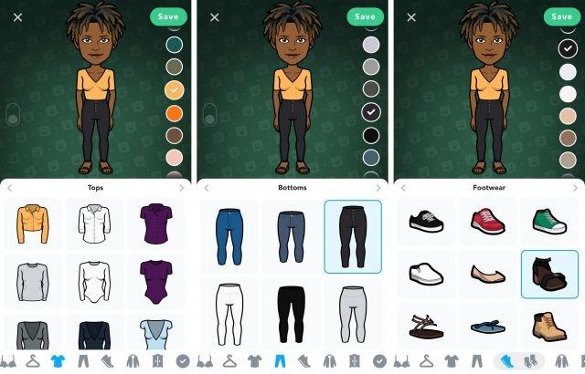 You can now mix and match your Bitmoji's clothing