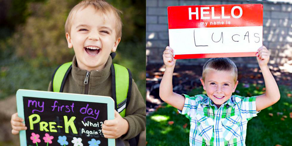 """<p>It's inevitable: Every year, around back-to-school time, your social-media feeds start to fill with photos of excited kids with their <a href=""""https://www.goodhousekeeping.com/life/parenting/g27532924/bento-box-lunches/"""" target=""""_blank"""">lunches packed</a>, their <a href=""""https://www.goodhousekeeping.com/beauty/hair/g3821/kids-hairstyles/"""" target=""""_blank"""">hair brushed and styled</a>, and smiles on their faces. Even if you avoid (or rarely remember to) post pictures of your kids, the first day of a new school year is probably the one day you'll let you guard down, considering how fresh and cute they look. Get a jump on planning this year's first-day-of-school photo ideas with advice from a professional kids' photographer about how to capture the moment just right, plus some creative ideas about poses and props, including <a href=""""https://www.goodhousekeeping.com/life/parenting/g27787916/best-first-day-of-school-signs/"""" target=""""_blank"""">back-to-school signs</a>.  <br></p>"""