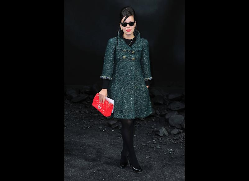 <strong>2011</strong> Lily at the Chanel Ready-To-Wear Fall-Winter 2011-2012 fashion show