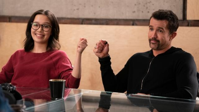 Charlotte Nicdao and Rob McElhenney in Mythic Quest Season 2