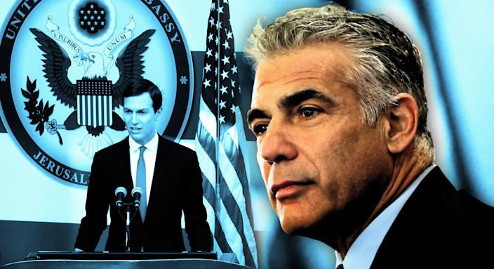 Jared Kushner; Yair Lapid (Photo illustration: Yahoo News; photos: Sebastian Scheiner/AP, Thomas Coex/AFP/Getty Images)